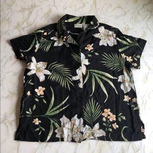 Floral Button Down Blouse Size S